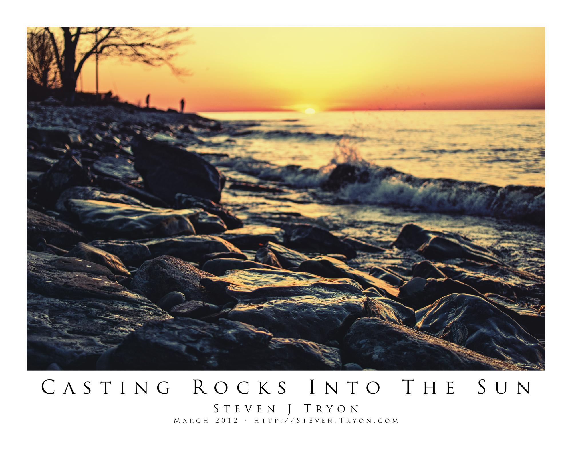 Casting Rocks Into The Sun