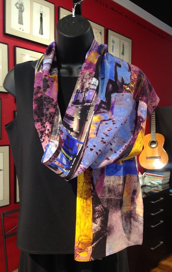 TMBP- art scarf-painterly abstract-purple-cool blues-bronze-orginal design-silk crepe-custom printed in usa.JPG
