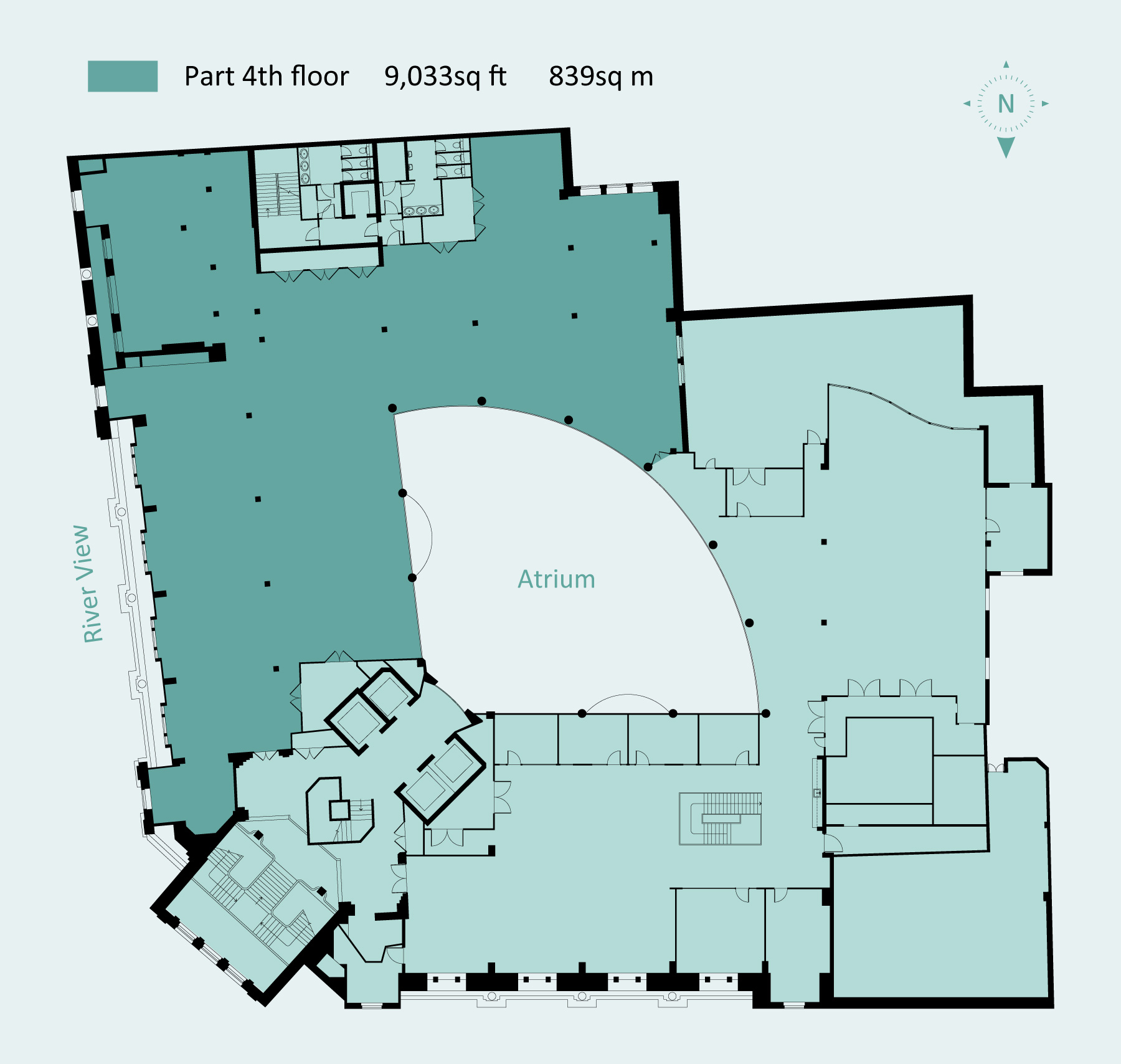 NB Entire floor of 16,500 sq ft available by arrangement