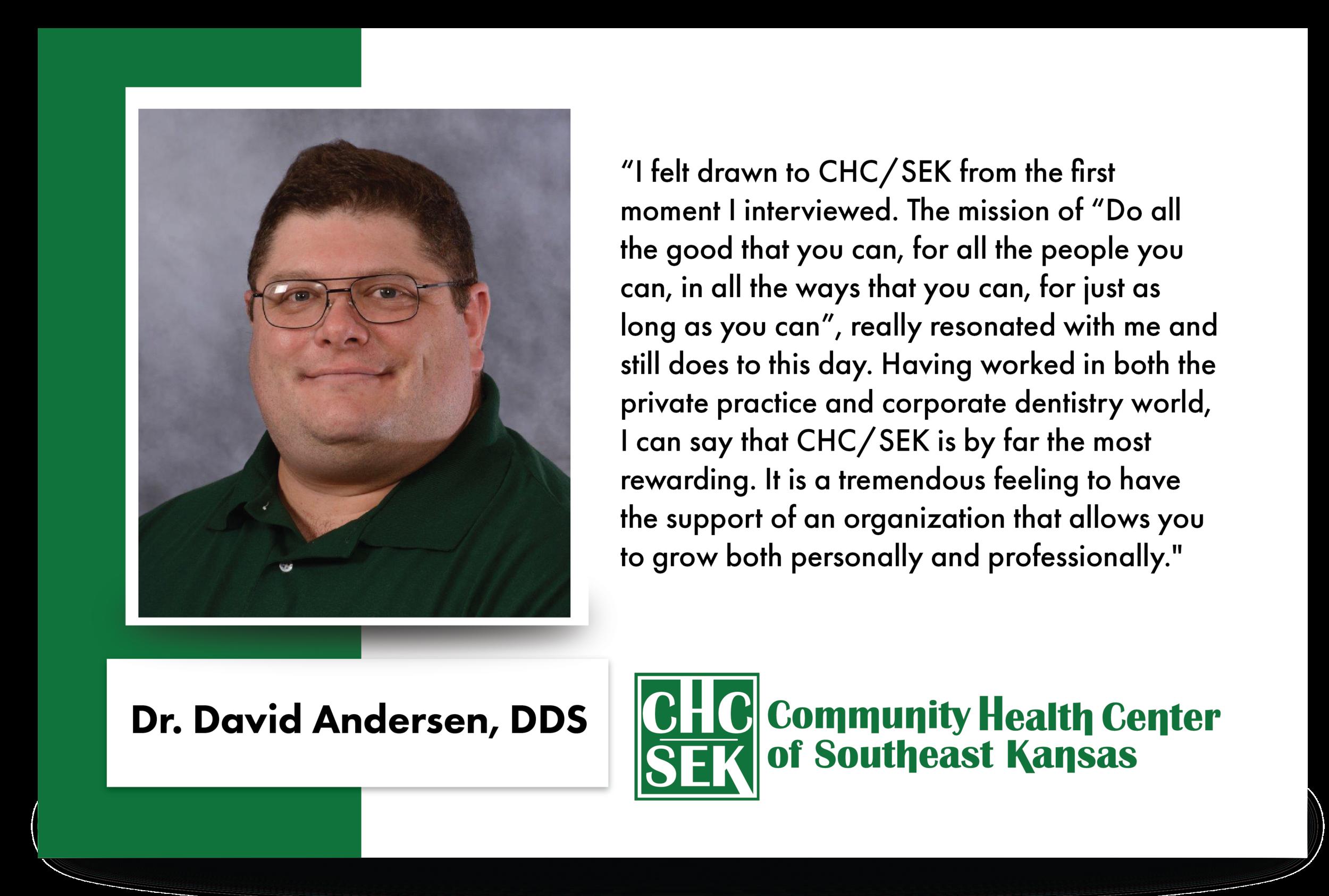 Dr. David Anderson, D.D.S