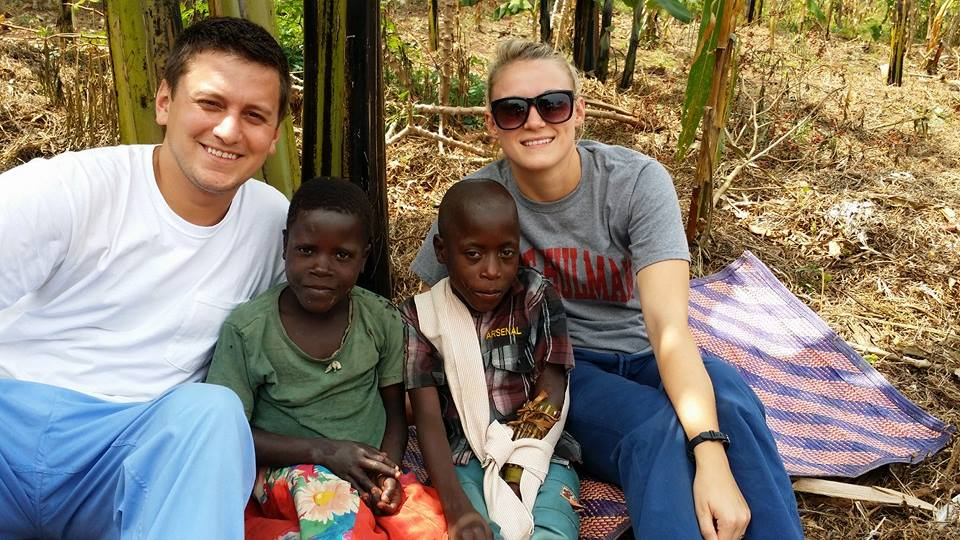 David and Maddie gave up their wedding registry and raised support for their mission trip to RTRA where they met their sponsored children, Maria and Wasswa.