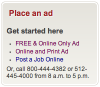 place an ad free