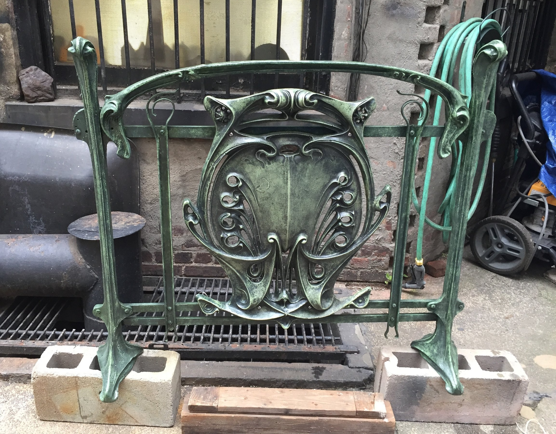 Hector Guimard - Paris Métropolitan Shield and Railing