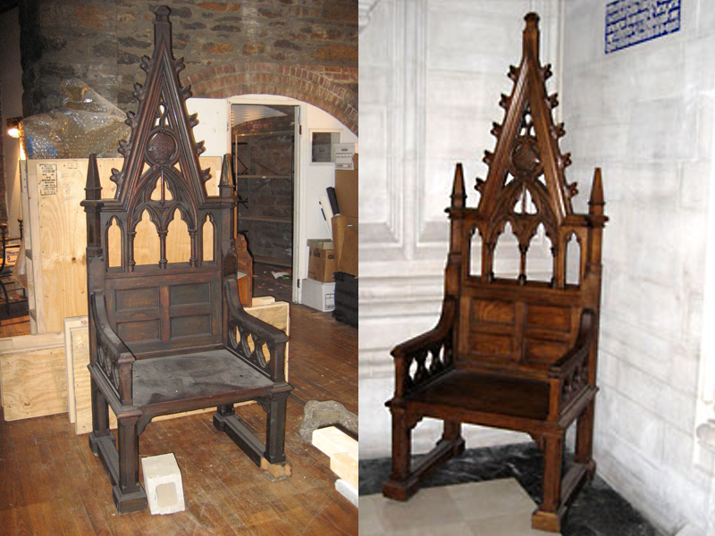 St. John The Divine - Wooden Throne