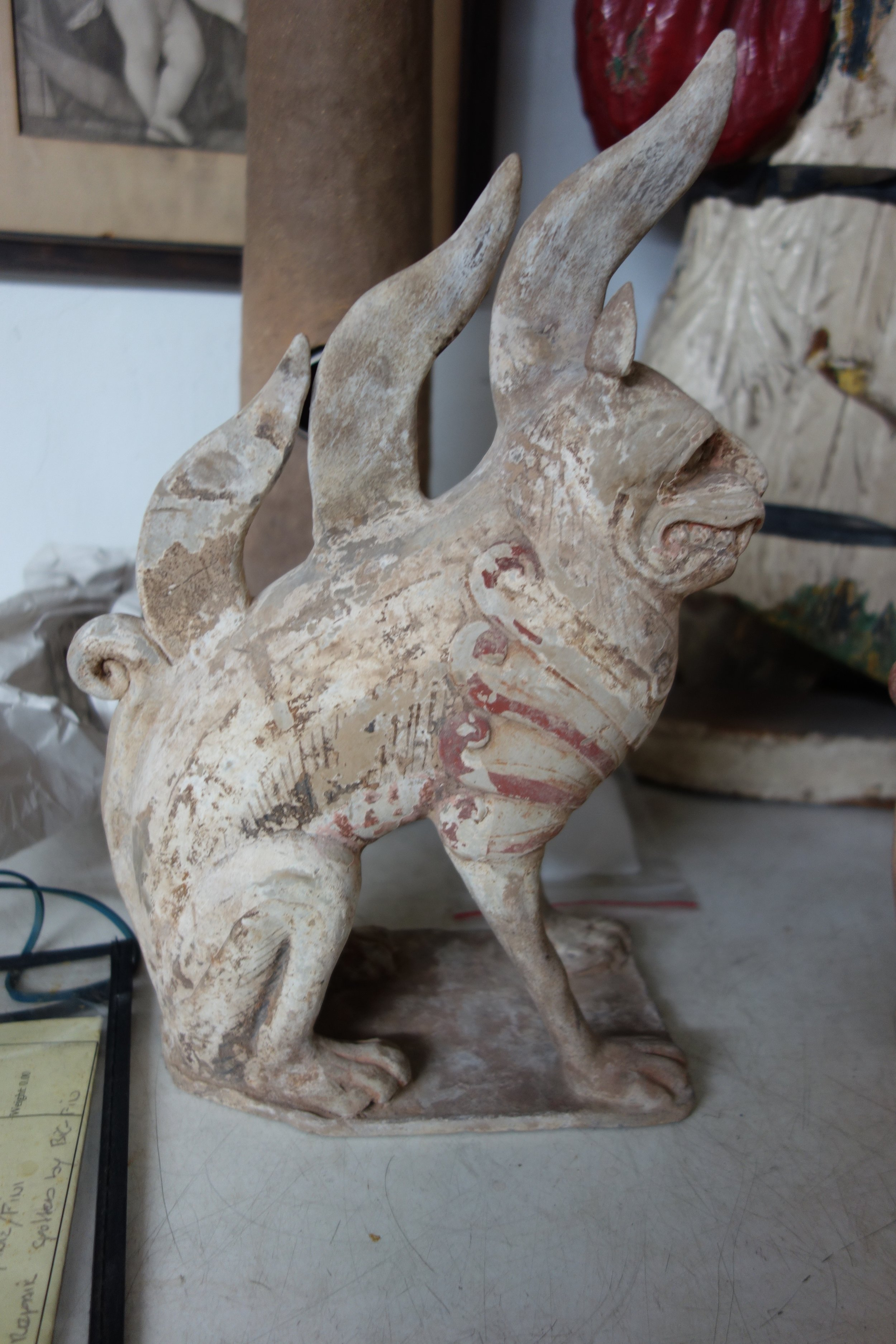 nknown Shaanxi province China Object - A pair of painted earth Spirits