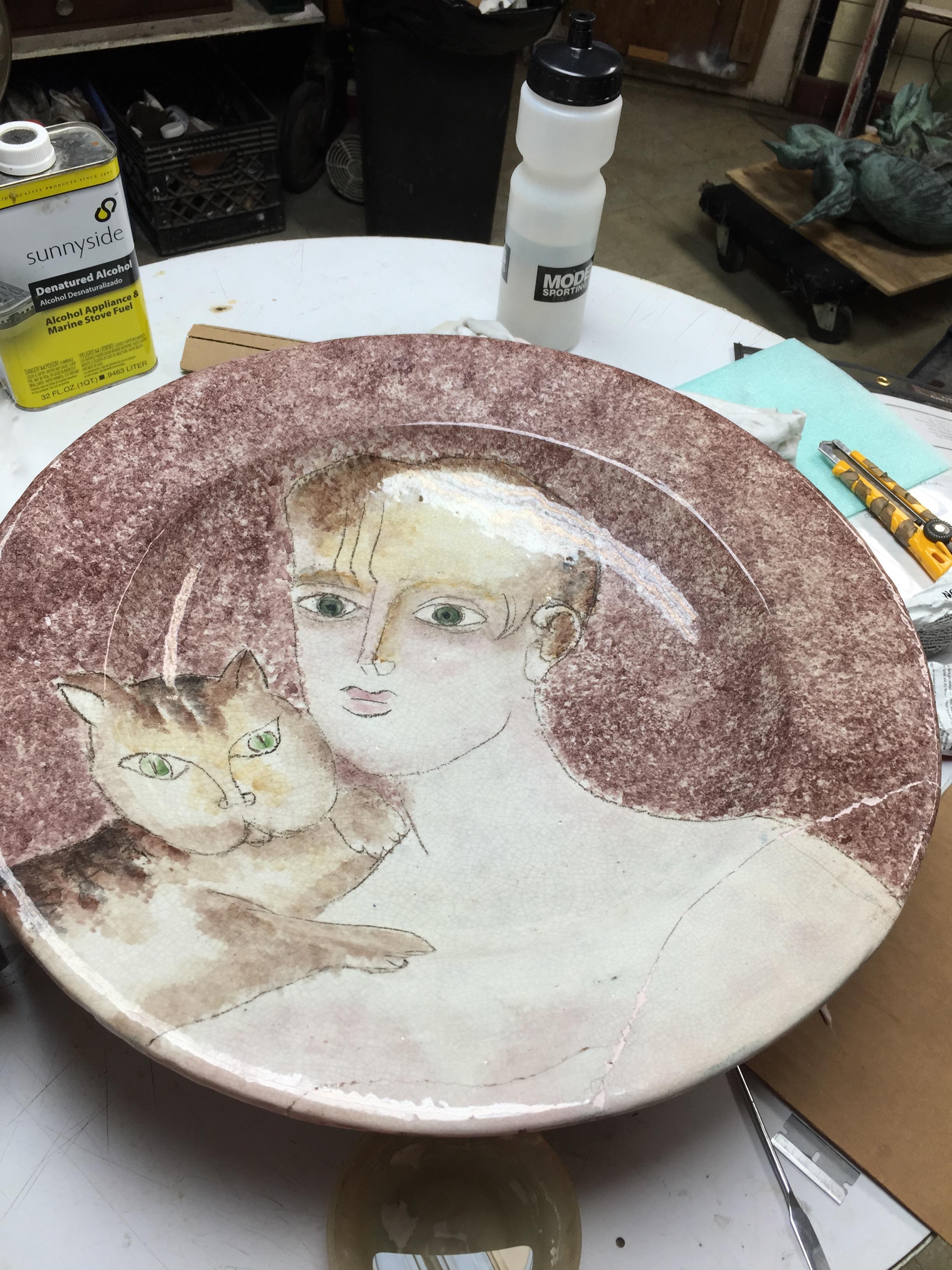 Unknown Artist - Cat Plate