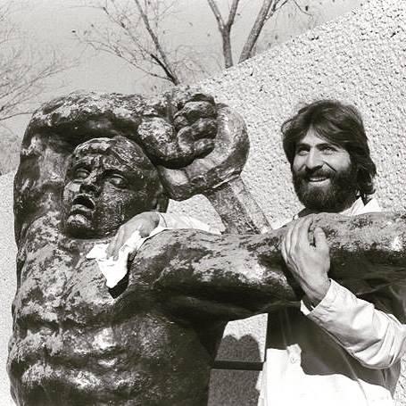 Steve Tatti circa 1975 at the Hirshorn Museum