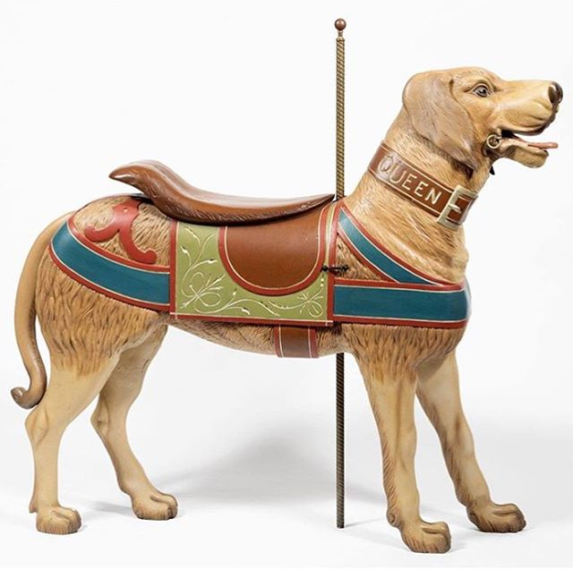 TAC is restoring a historic wooden dog carousel, Queen, for The Museum of the Dog in NYC. We're removing the old repairs, consolidating the original wood and preparing the surface for new fills. Oh and his proper front right paw was loose at the original joint, so we plan on fixing that right up too🐾 Check out our Stories to see some of the restoration in progress. 🐕 ___ 📷 @museumofthedog #dogs #dogart #sculpture #dogsculpture #museumofthedog #doggo #tattiartconservation