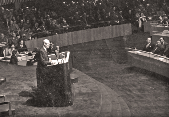 DWIGHT D. EISENHOWER BEFORE THE UNITED NATIONS - 1953