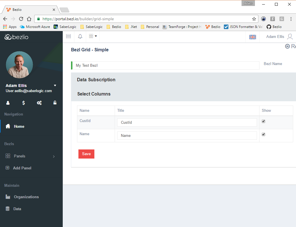 Screenshot of the fields listed after the plugin pulls back the data from the source.