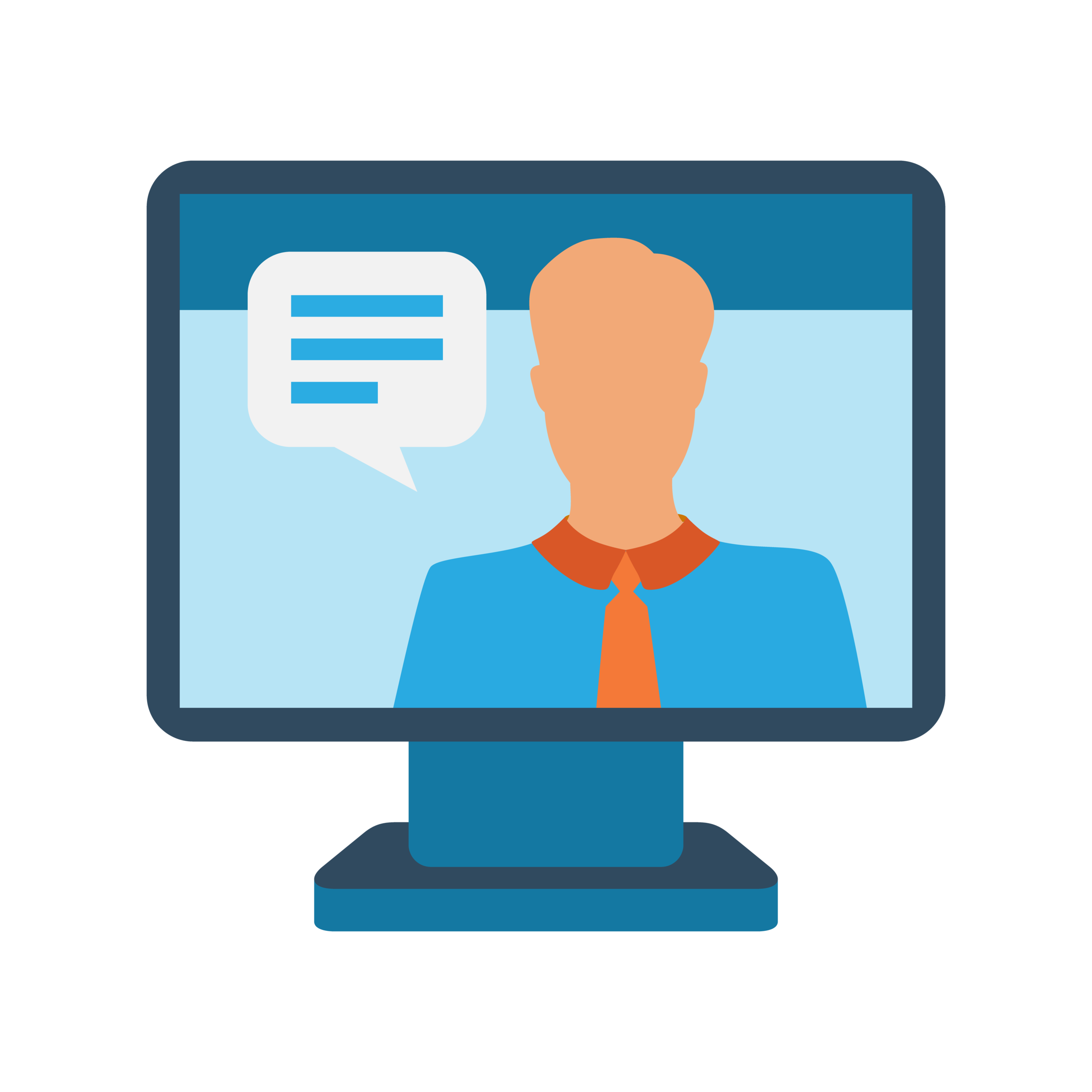 Illustration of a person on a computer monitor, which represents Bezlio webinars where our engineering team walks you through how to use Bezlio to display dashboards, mobilize any internal data, write back to your data sources and create beautiful data visualizations.