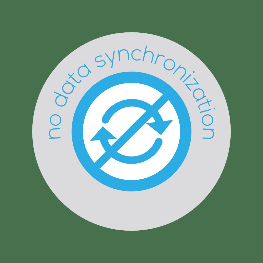 No Cloud Synchronization