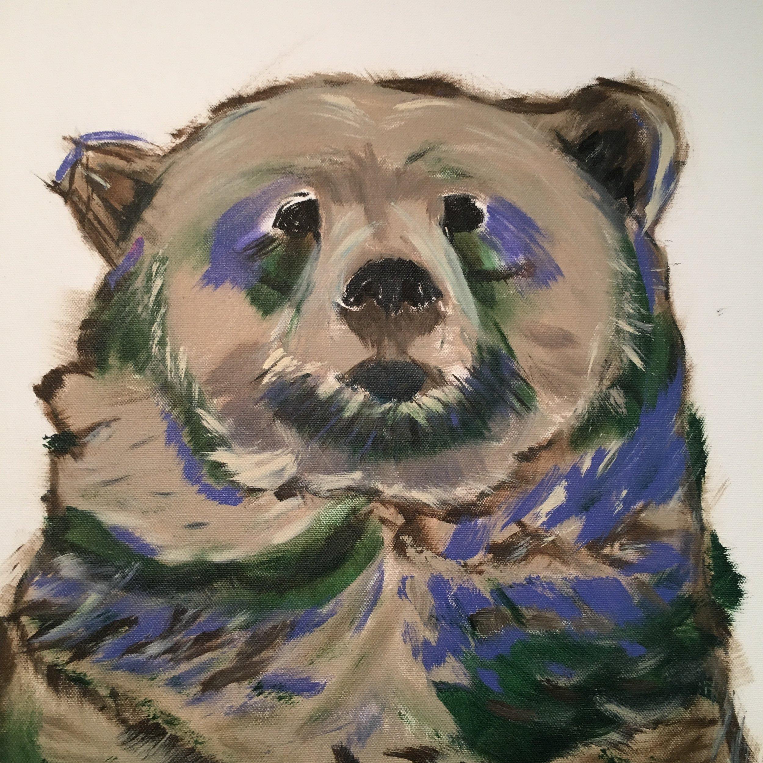 """Kokoro """"I will not hide""""  72""""x36"""" (acrylic on canvas)"""