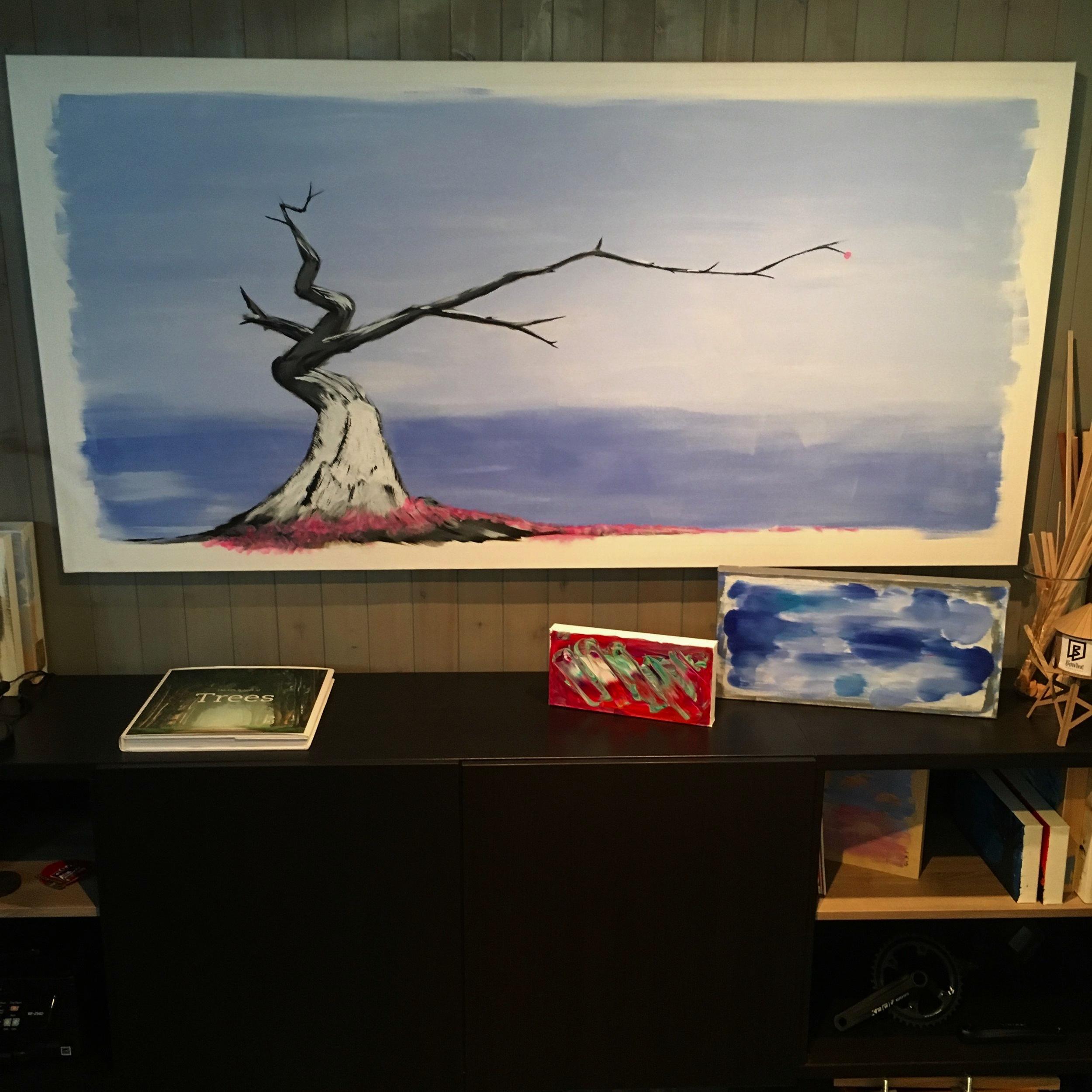 """ichimokushi  36"""" x 72"""" (acrylic on canvas)"""