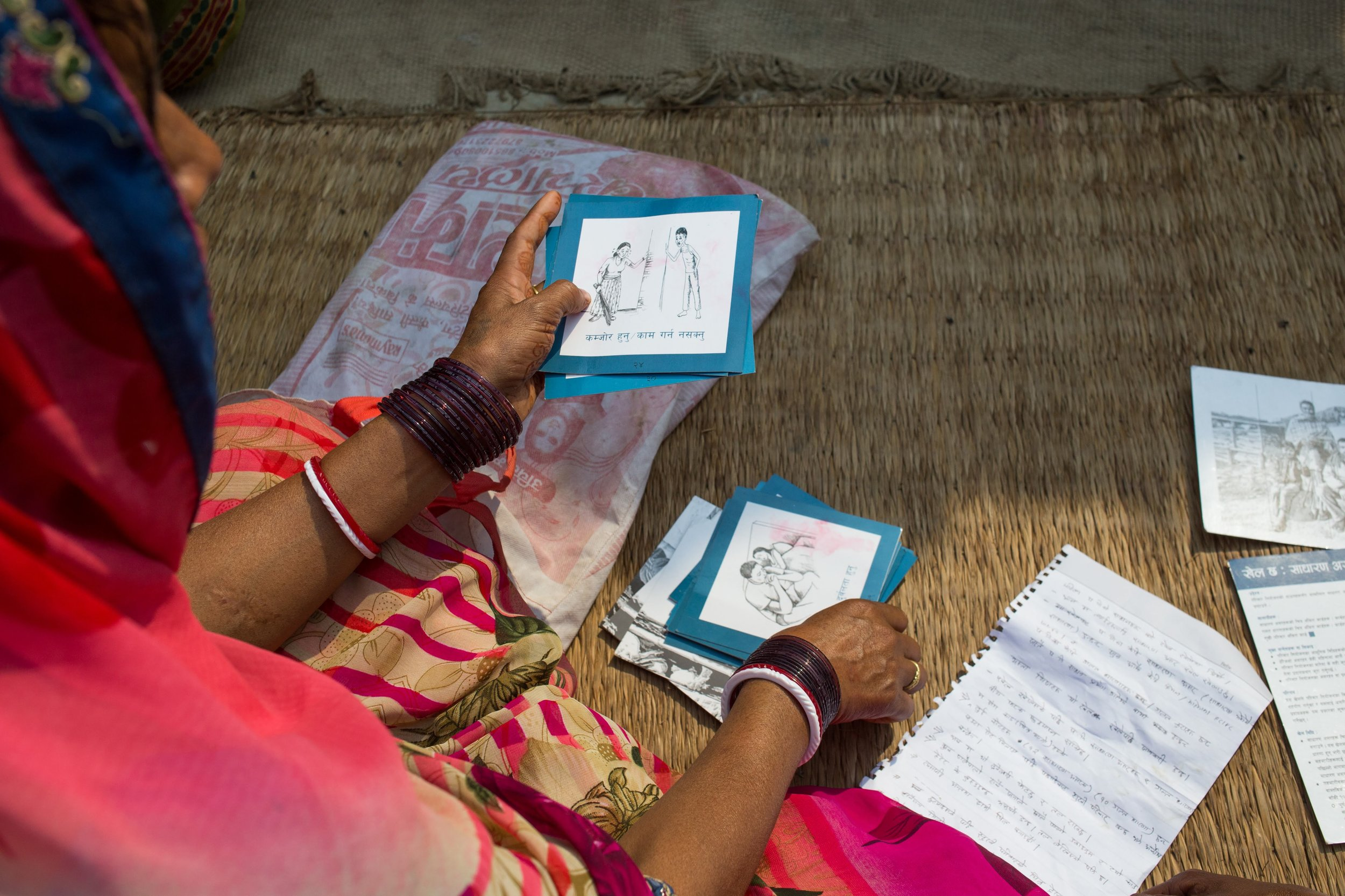 """- """"I came to know that [sterilization] doesn't make women weak or decrease sexual desire. These are myths. I will get a Minilap in the upcoming sterilization camp rather than take Depo every three months.""""FEMALE PRAGATI PARTICIPANT, SIRAHA"""