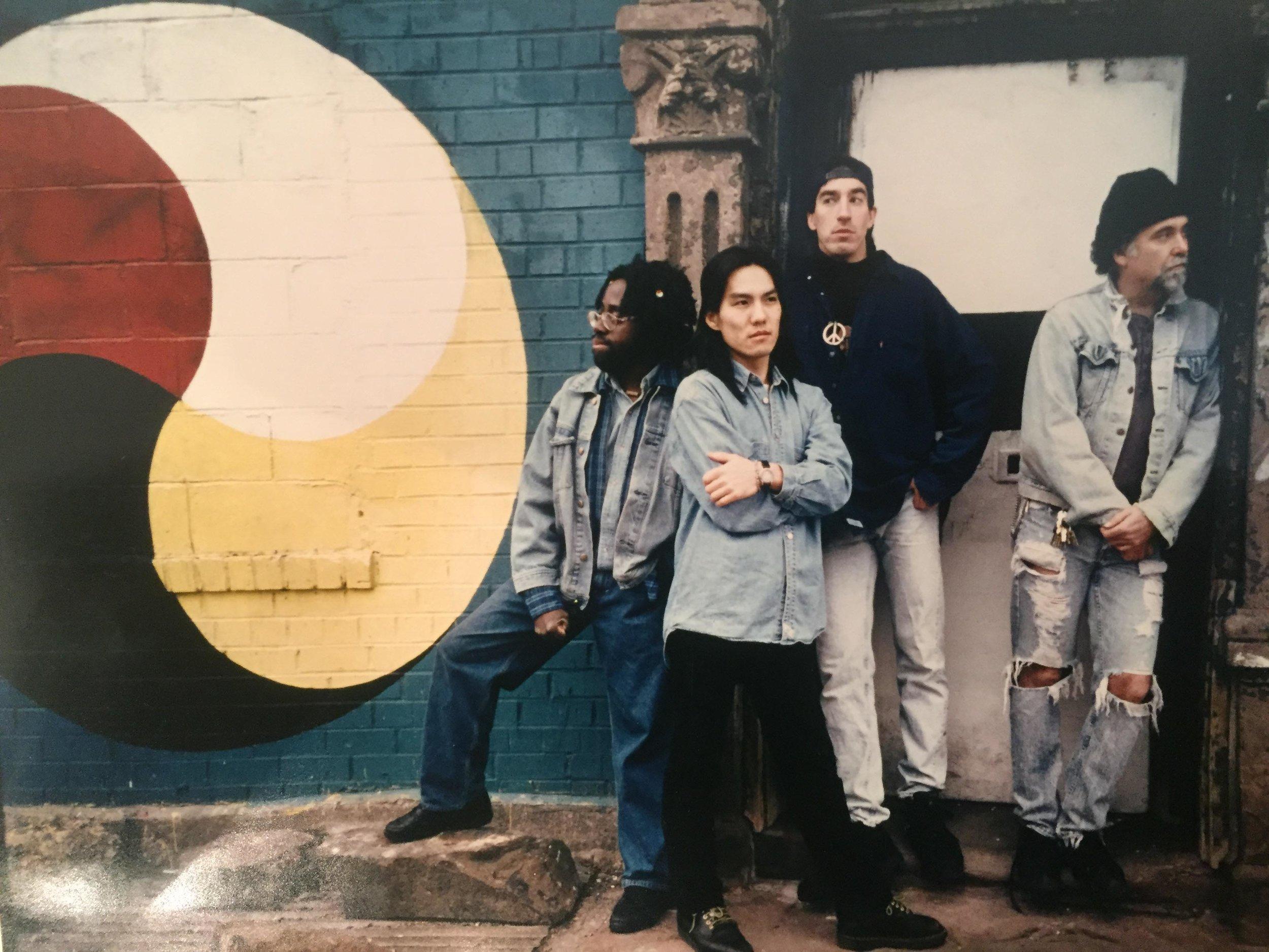 From left: Joe Copeland, Masa Shimizu, Milo Zwerling, Steve Hopkins. 1994.