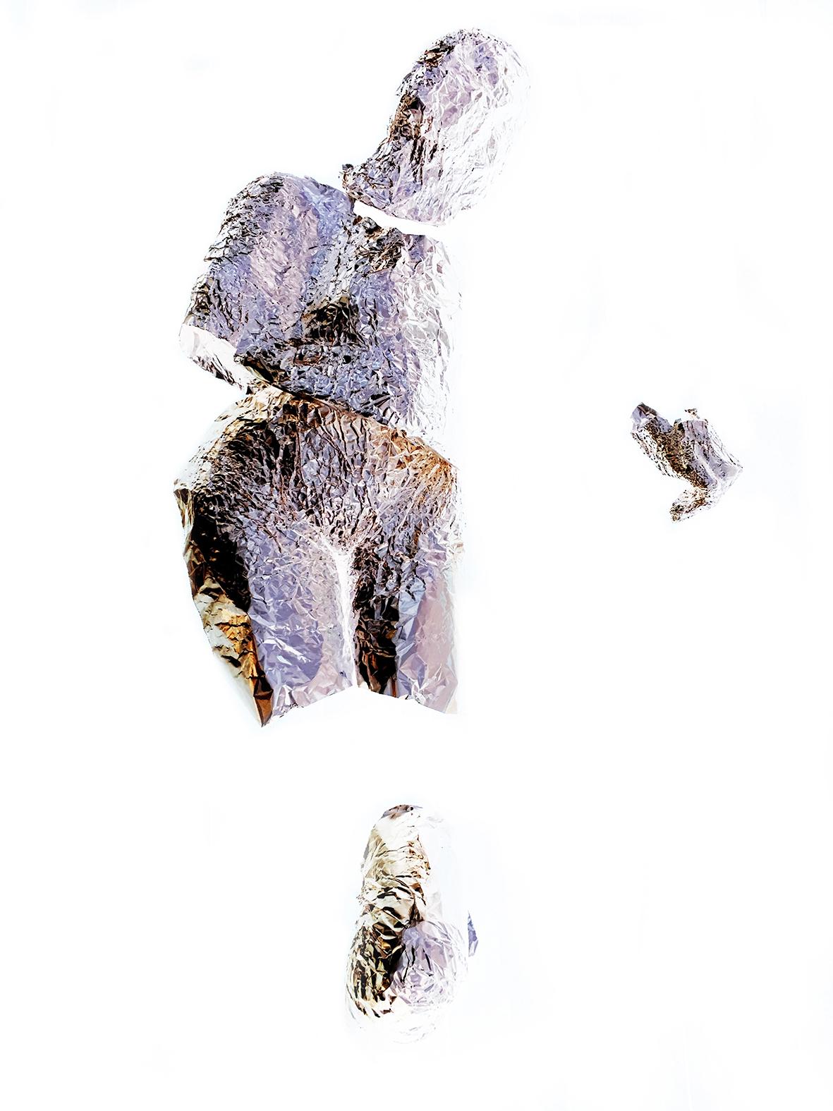 Extrahere,  tin foil,  2016