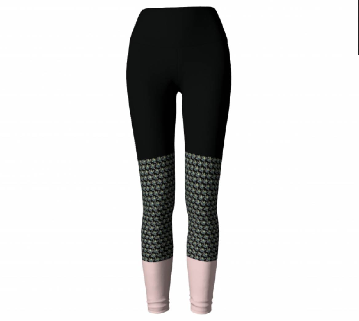 Black & Pink     Leggings,$45
