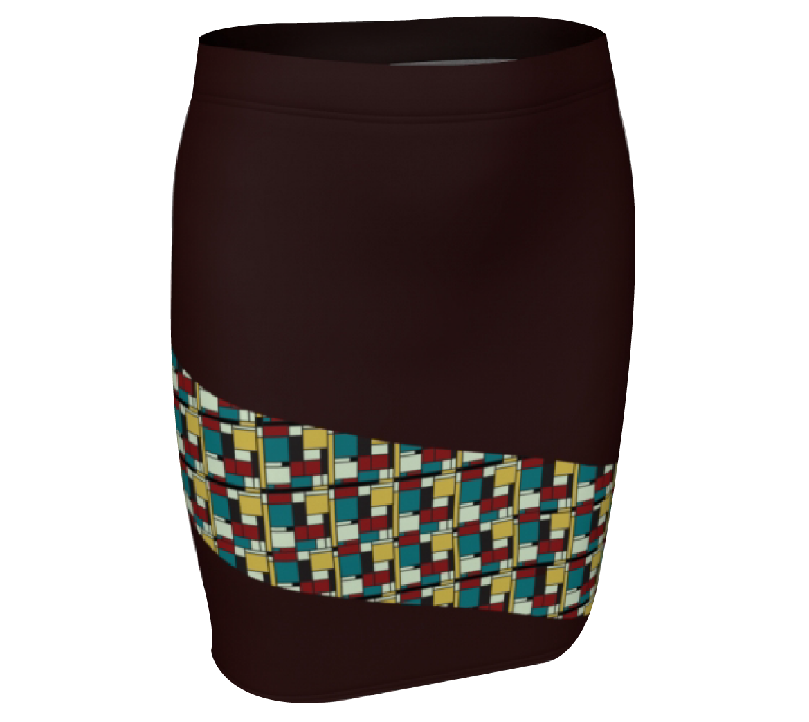 Cocoa Pattern Skirt  $30
