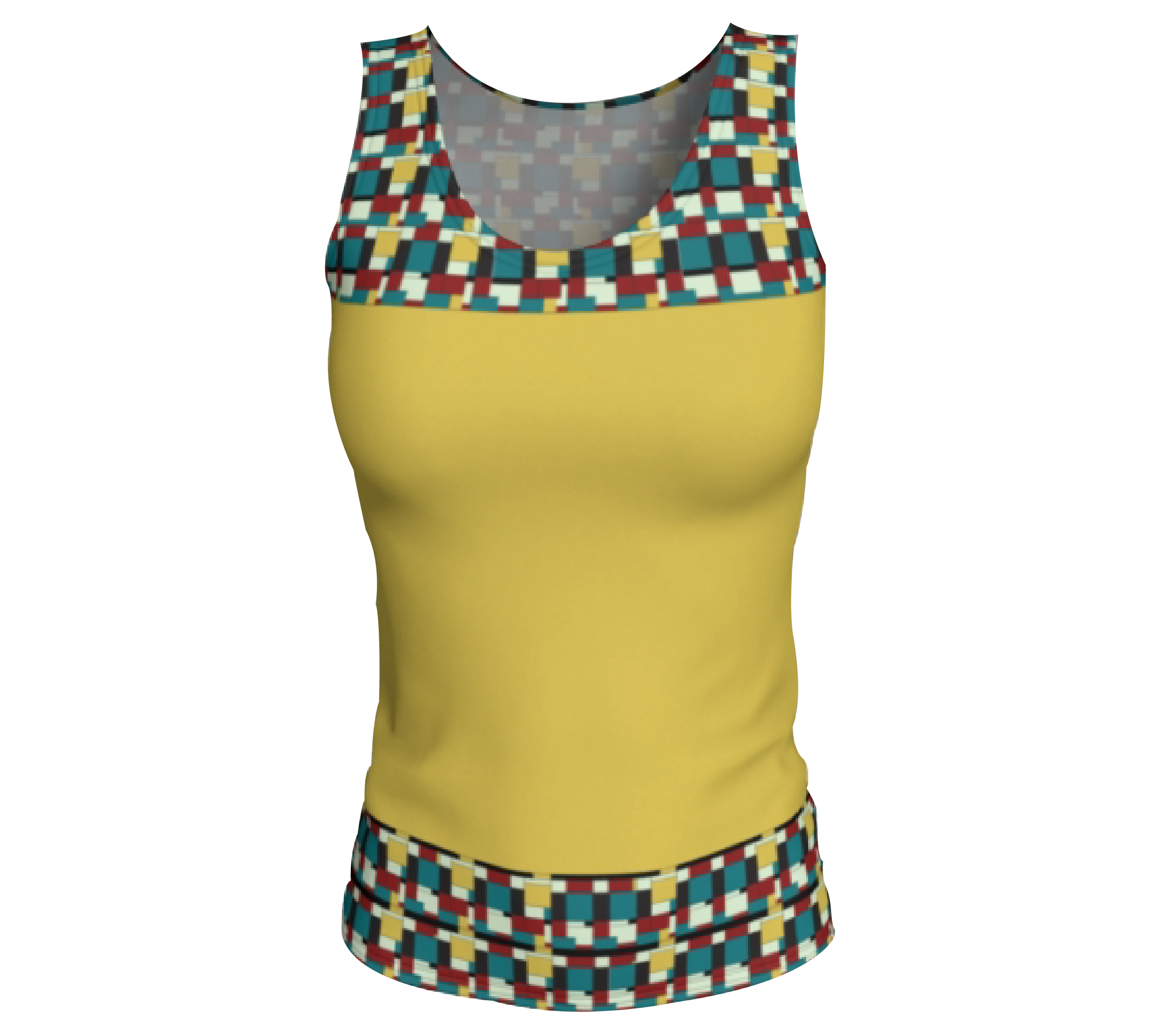 Yellow Fitted Tank Top                   $28