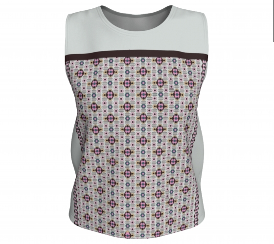 All-over   Beige Diamond Relaxed Tank Top#2, $28