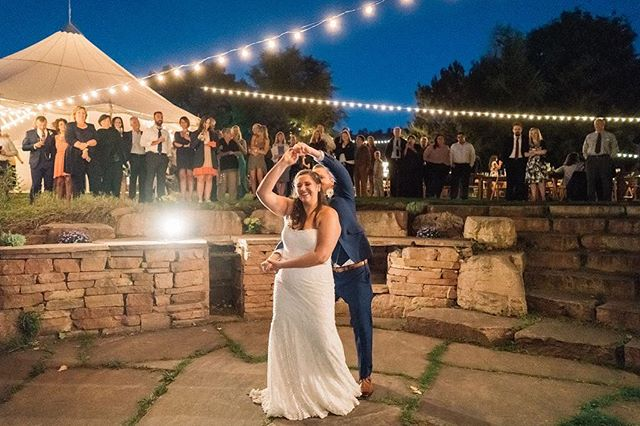 Getting married at @lyonsfarmette? The river patio is a great spot for the first dances! Just ask Kevin and Jordon! . . . . . Venue: @lyonsfarmette Planning: @dahliaeventslyons Photographer: @nicksparksphotography Caterer: @sugarpinecatering Bartender: @sugarpinecatering Florist: @farmetteflowers Dessert: @sugarpinecatering and @longmontbakery Tables: @harvestablecompany Rentals: @alleventsrental Photo Booth: @shutterbus Band/DJ: @gordonavenue
