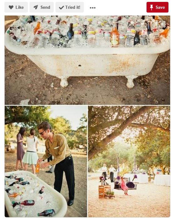 Bathtub fantasies abound, but realistic expectations will really make your day in the end. Photo by Matthew Morgan photography via Pinterest, http://www.weddingchicks.com/blog/parker-ranch-wedding-reception-from-matthew-morgan-photography-l-5523-l-43.html
