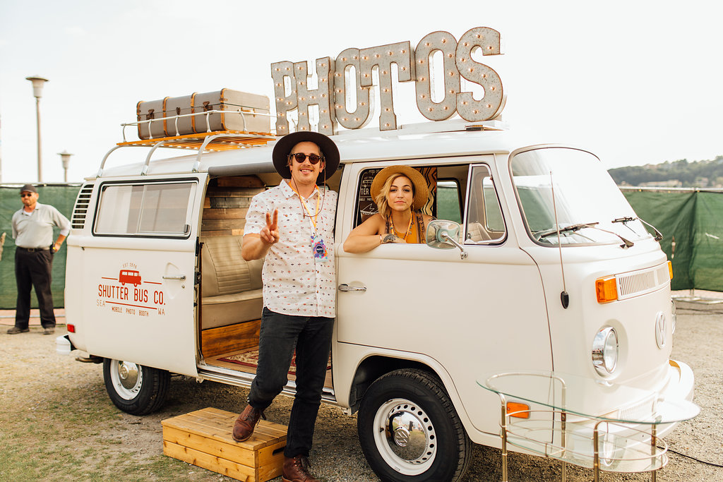 Be sure to reserve the white Shutter Bus Co photobooth for your white party!