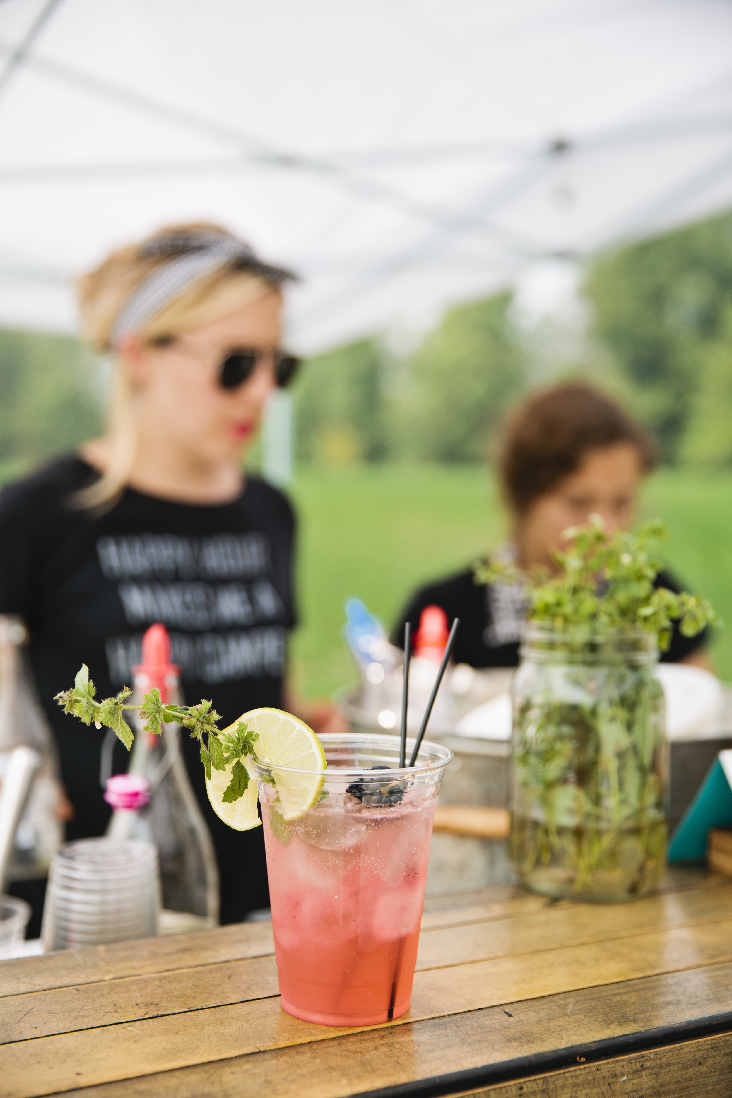 Add fun themed drinks for every party! A Marionberry + Mint Bourbon Bramble will quench thirst at the Low Country Boil