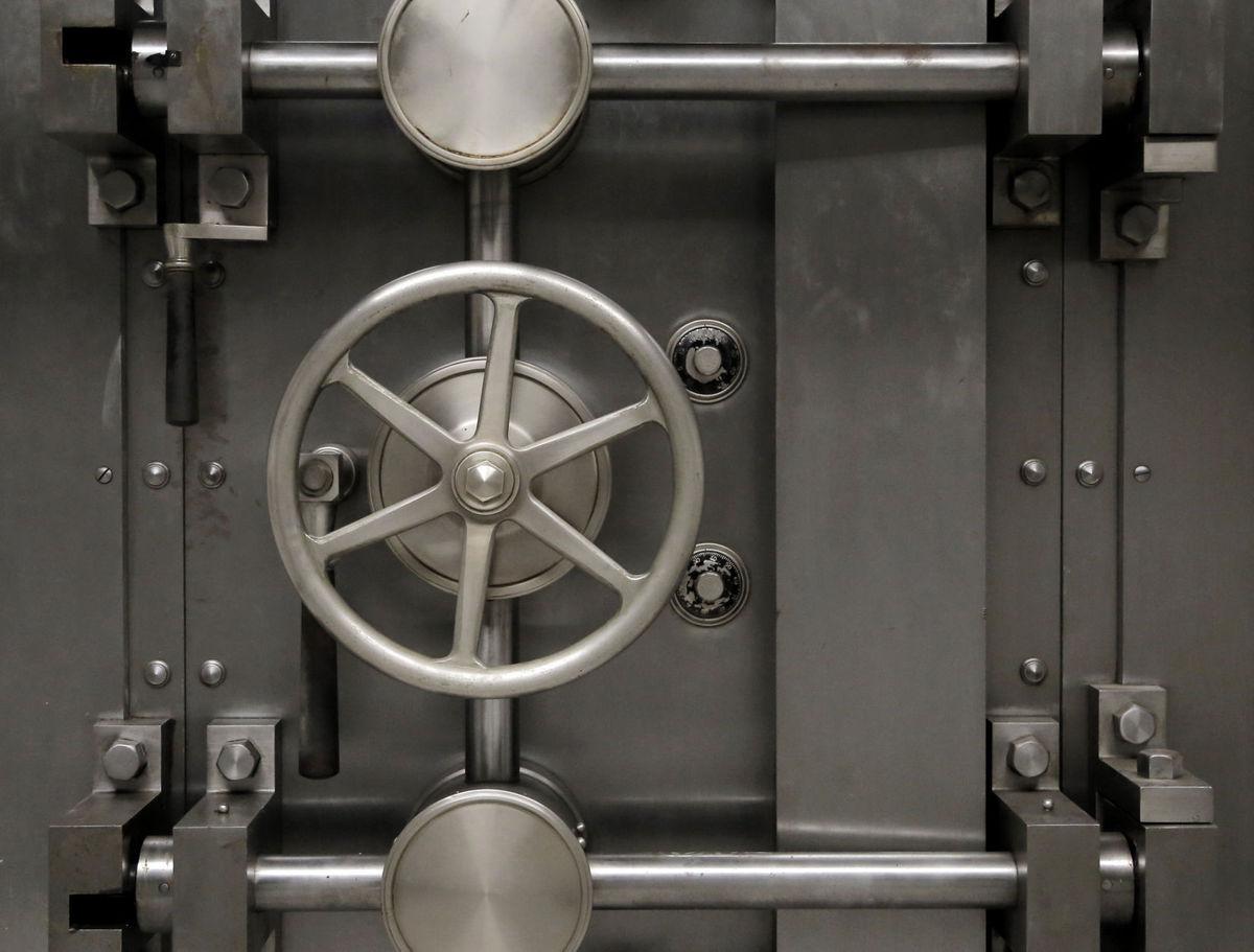 First National Auto Bank vault door.