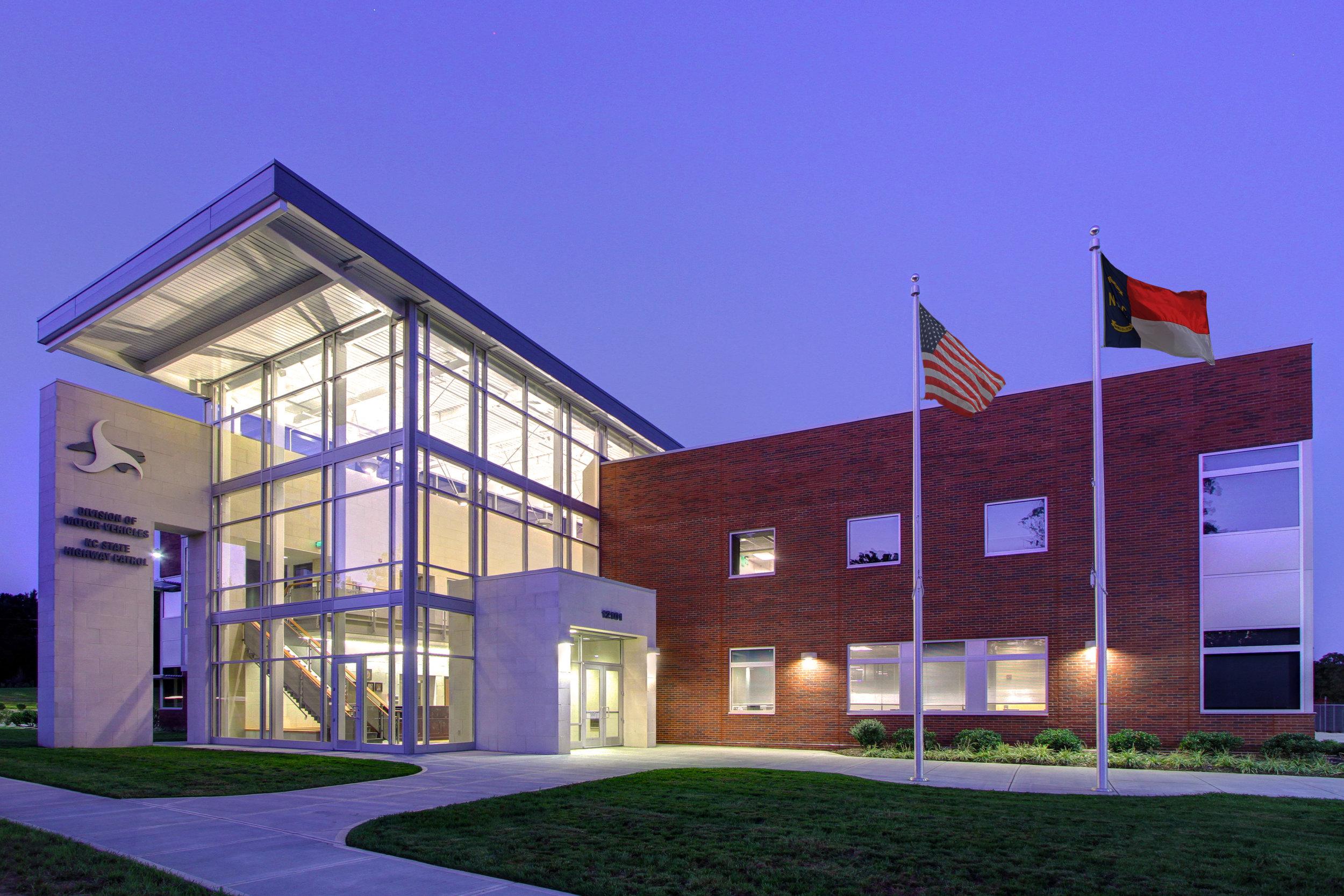 ADW-Public-Safety-Office-NC-DOT-DMV-SHP-Huntersville-NC-Exterior.JPG