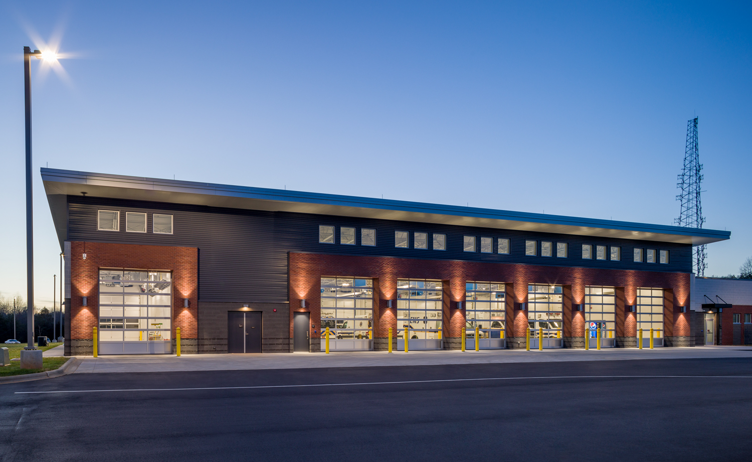 Iredell County PSC_exterior bays twilight.jpg