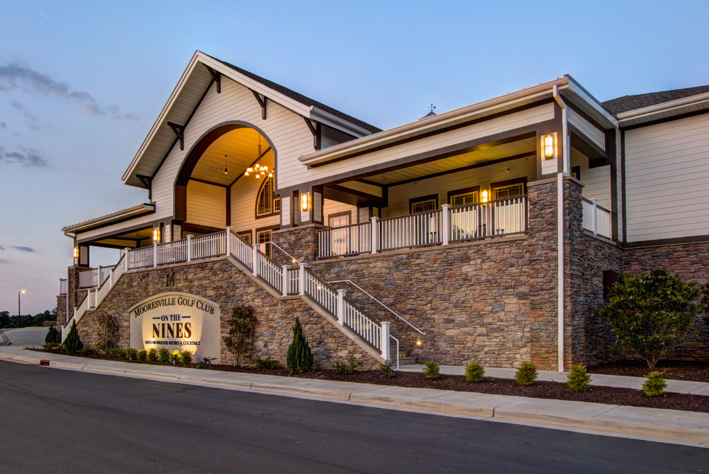 ADW-Civic-Mooresville-Golf-Club-Clubhouse-Mooresville-NC-Exterior-Dusk Restaurant Entry.JPG