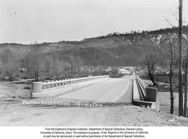 1938, Feather River Highway at Quincy.jpg