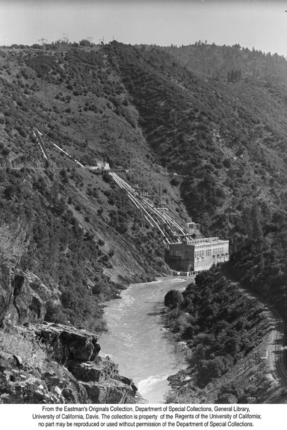 1938, Las Plumas Powerhouse near Oroville, Feather River Canyon.jpg