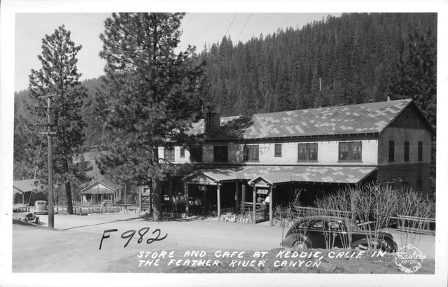 1939, Keddie Store and Cafe in the Feather River Canyon.jpg