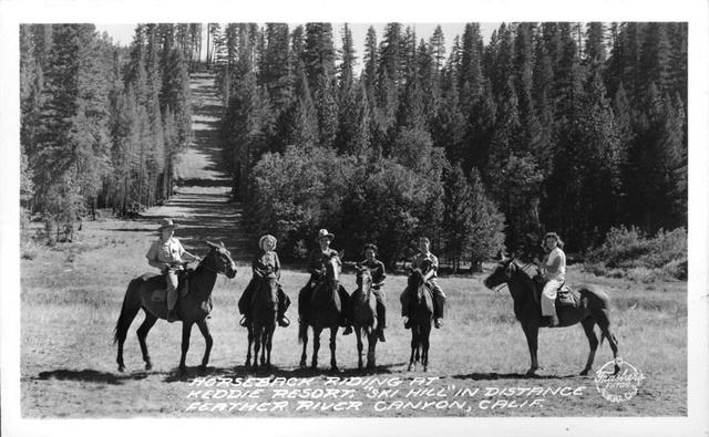 1939, Keddie, Horseback Riding at Ski Hill, Feather River Canyon.jpg