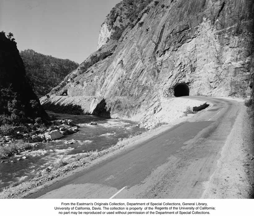 1946, Grizzly Dome tunnels, Feather River Canyon.jpg