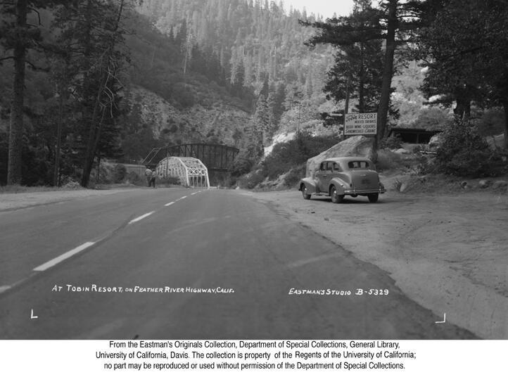 1947, Tobin Resort on the Feather River Highway.jpg