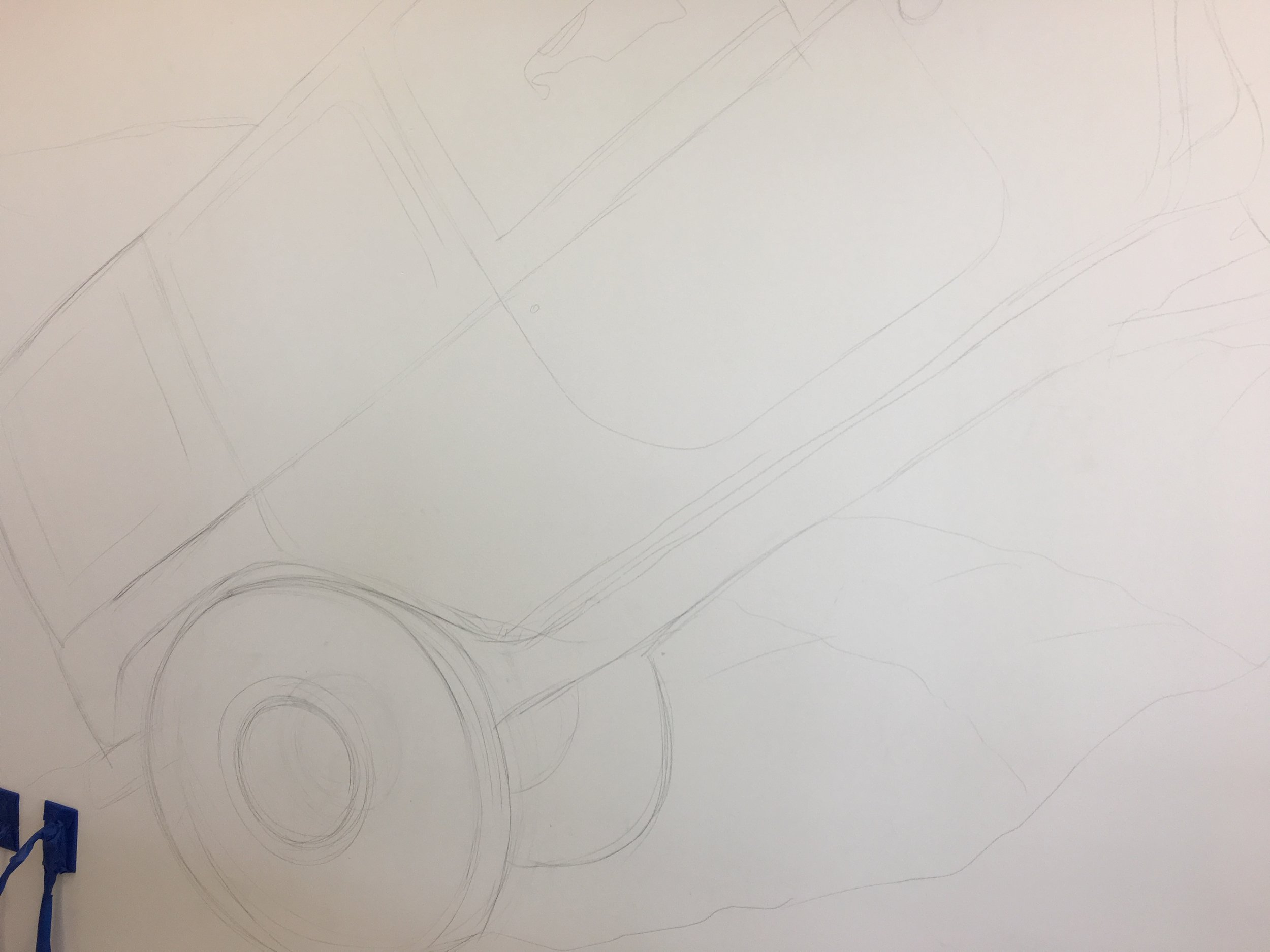 Penciling in the image.