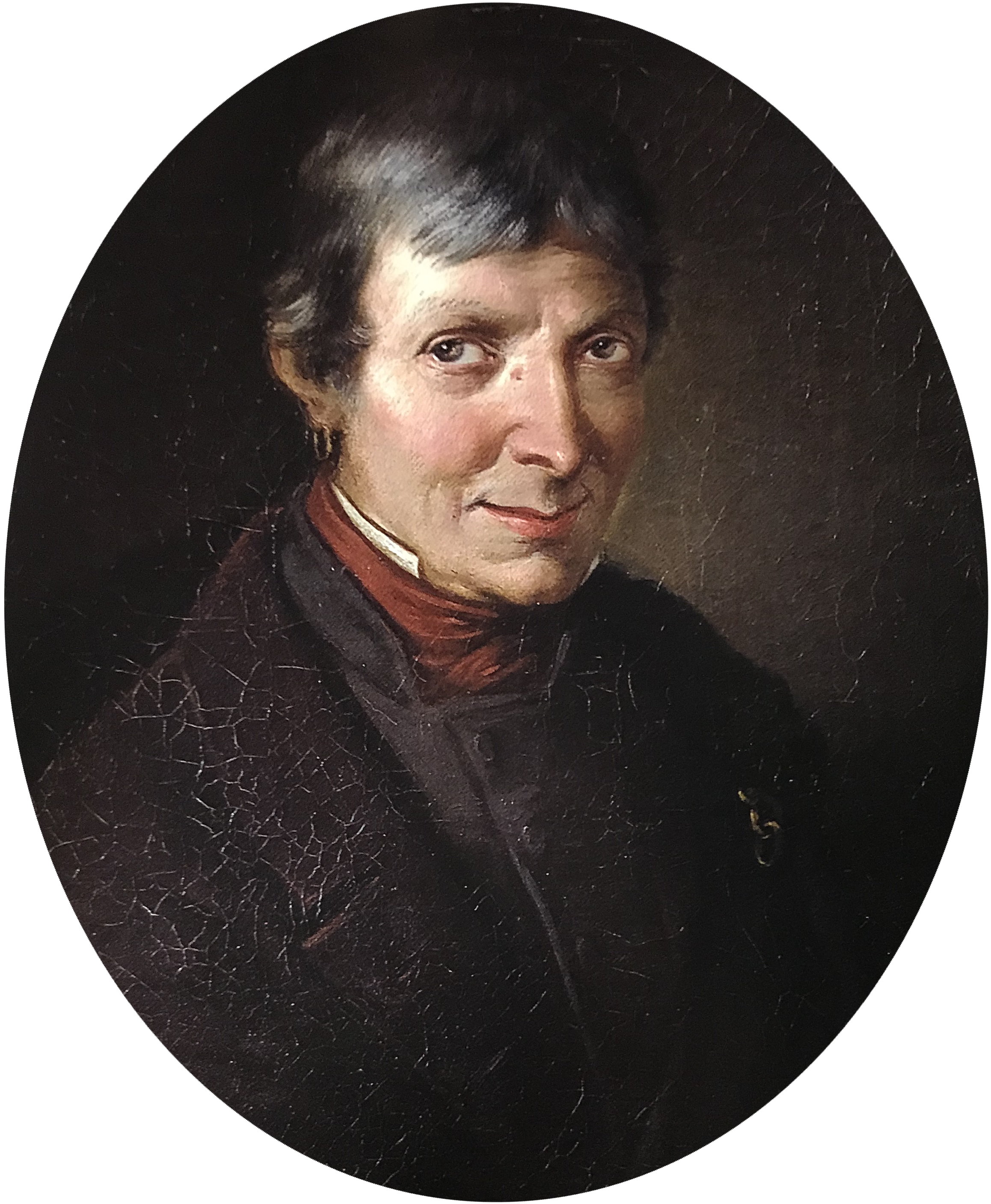 BENARDINO ROSSI, Portrait of Giuseppe Molinari, 1857, Oil on canvas
