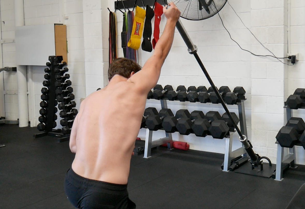 Landmine Press allows full protraction and upward rotation of the scapula