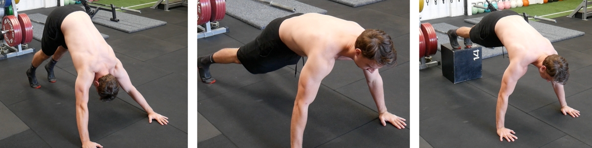 Yoga Push Up, Push Up w/ Full Reach and Feet Elevated Push Up all promote protraction and upward rotation of the scapulae