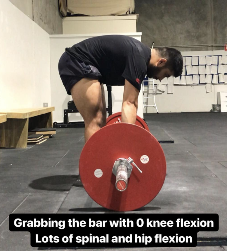 All flexion demands are from the Hip and the Spine.