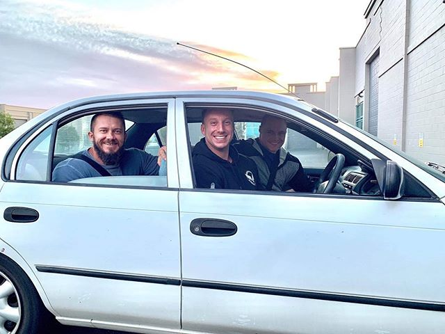 I've had some pretty fun car trips in the Old Granny Smith.. but this one is close to the top. @wcroz, @deanmckillop and I in the beast, just before getting pulled over by an office to be randomly drug tested. Chatted about how I lost my virginity.. as you do! #lostvirginity #strengthculture #huntprogression