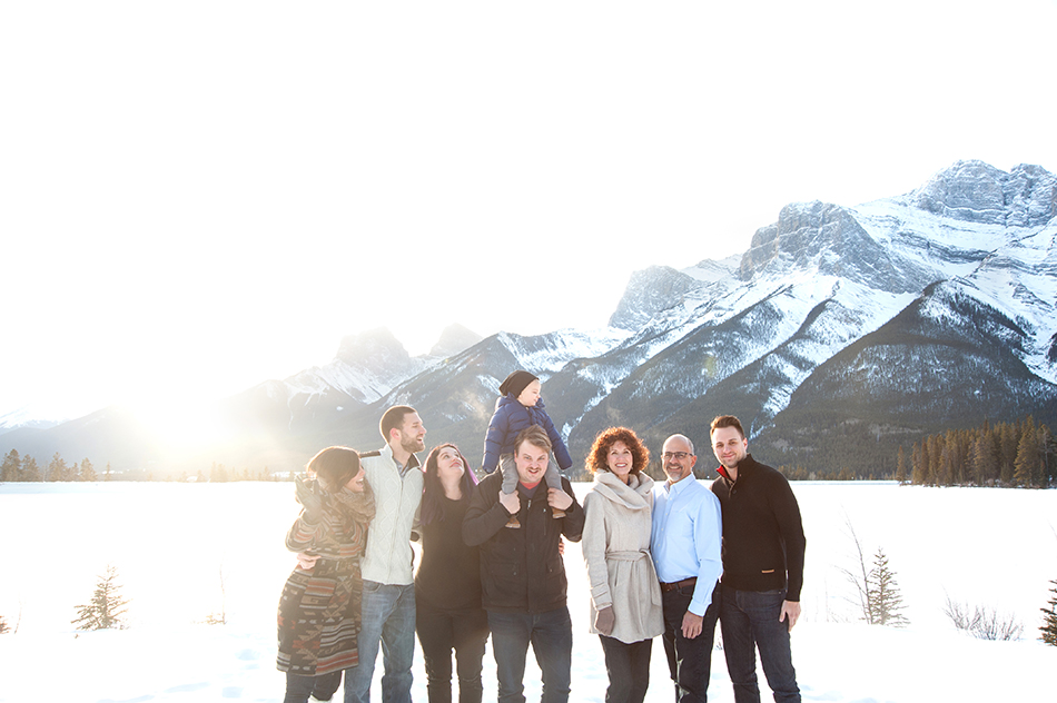 canmore extended family photography kids maternity