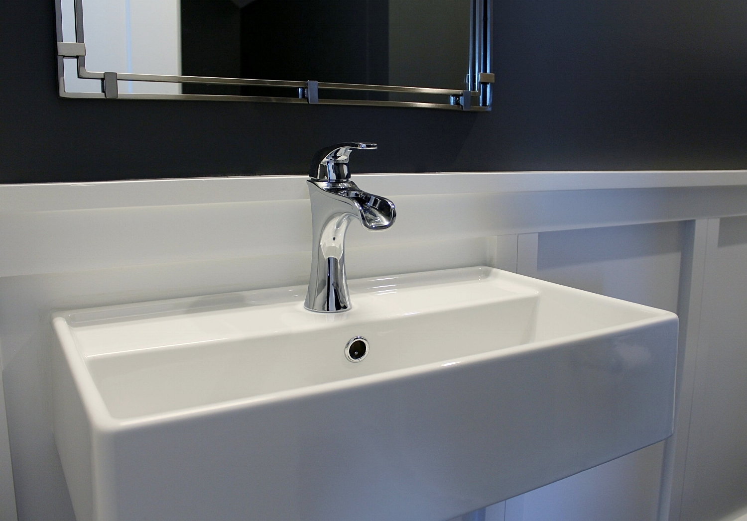 Contemporary wall mount sink