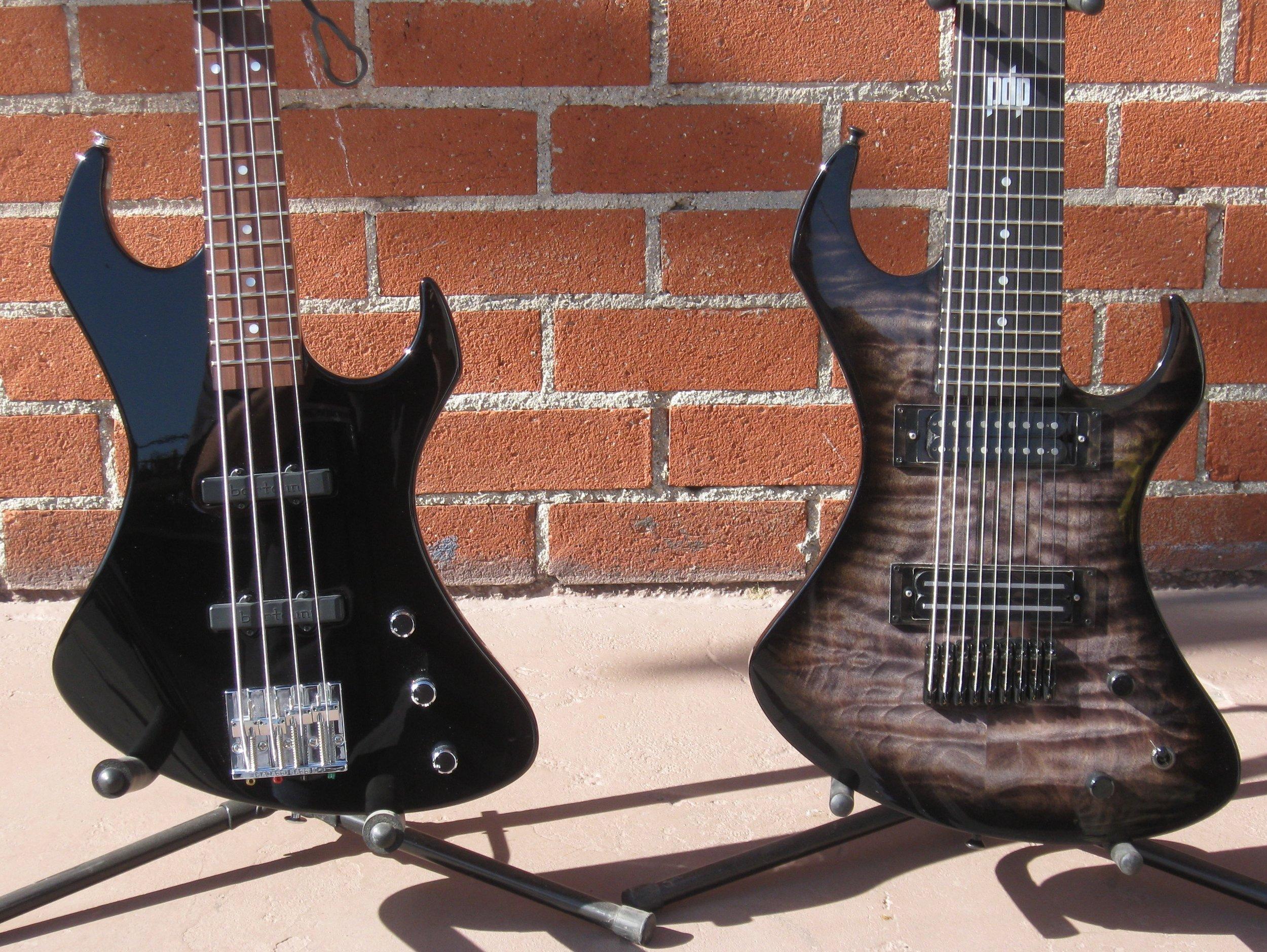A/V bass and 9 string custom