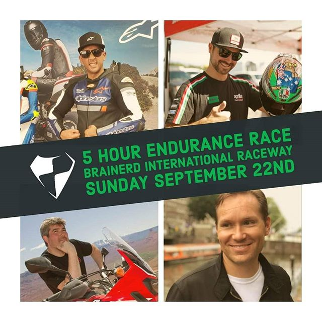 We're excited to announce that @motrizzle @renski33 @yensenyoseph and @skell15 will be riding the HKR Evo2 this weekend at @brainerdinternationalraceway. They will be racing the @centralroadracingassociation 5-hour endurance race along with a few sprint races. Come out, meet the guys and have some fun!