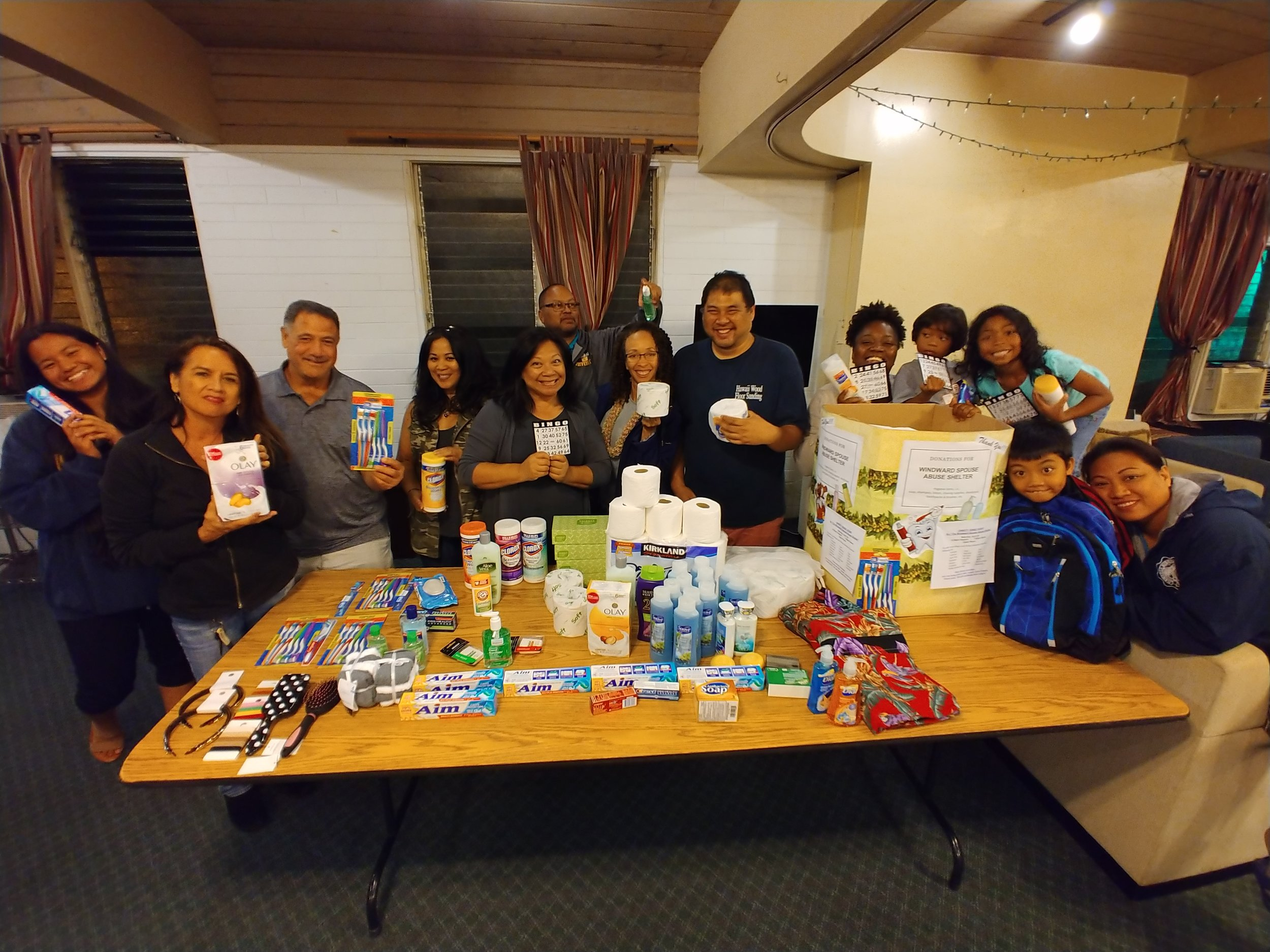April Charity Bingo Night collected donations for the Hawaii Women's & Children's Abuse Shelter in Kailua.